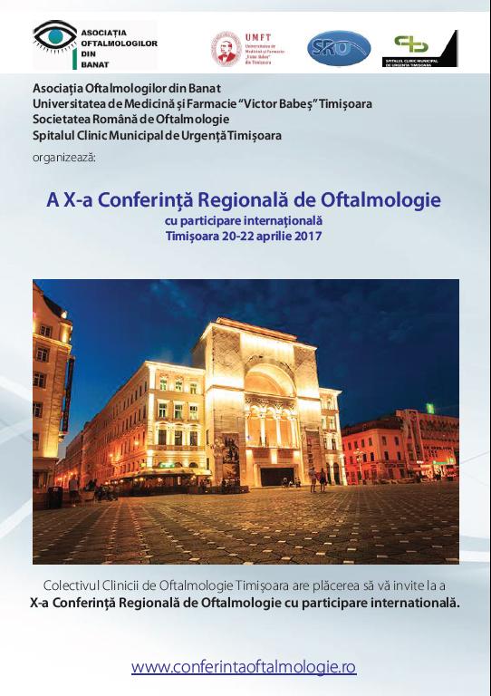 Anunt conferinta Oftalmologie